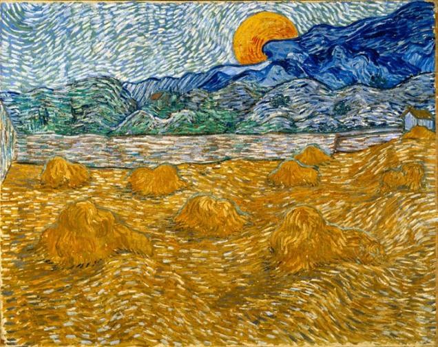 van-gogh-Paesaggio-con-covoni-di-grano-e-luna-crescente