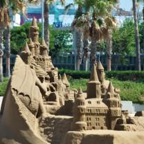 Giochi di sabbia a Valencia (Spagna)