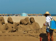 """Ancora un """"artista di spiaggia"""" a Valencia"""